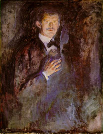Self-Portrait with Burning Cigarette, 1895
