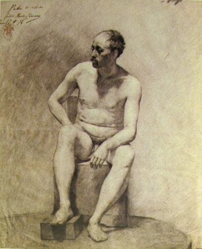 Charcoal Figure Study 1896