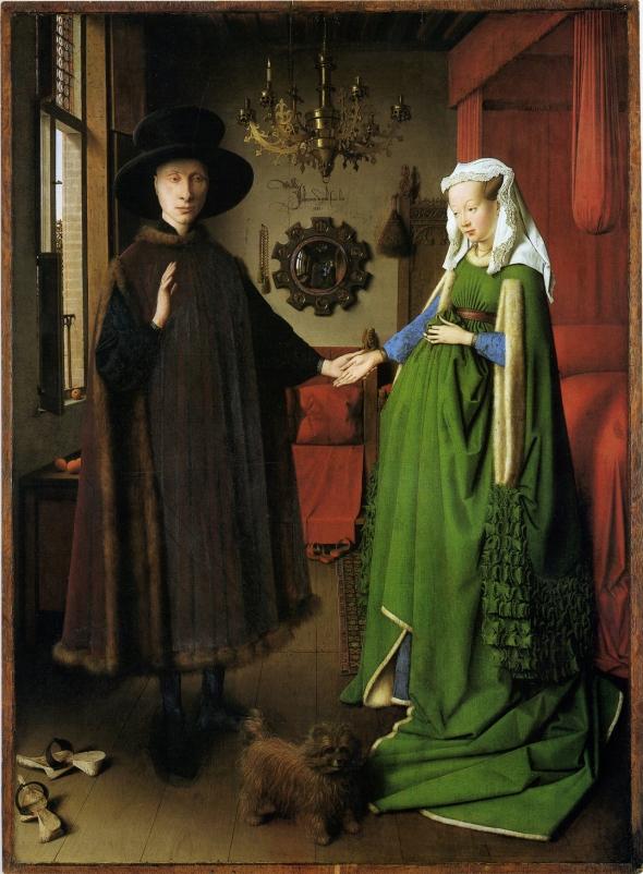 "Jan van Eyck, ""The Arnolfini Portrait,"" 1434. Oil on oak panel."