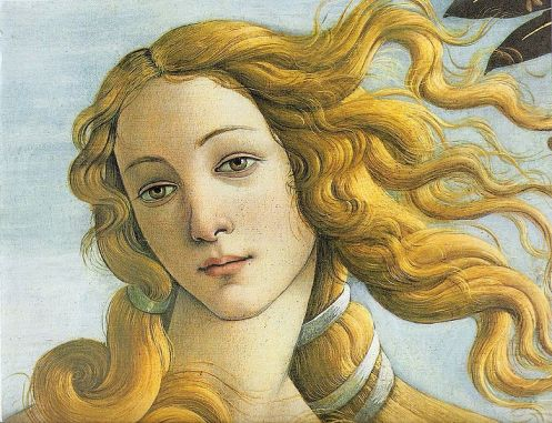 "Sandro Botticelli,""The Birth of Venus"" detail, 1486"