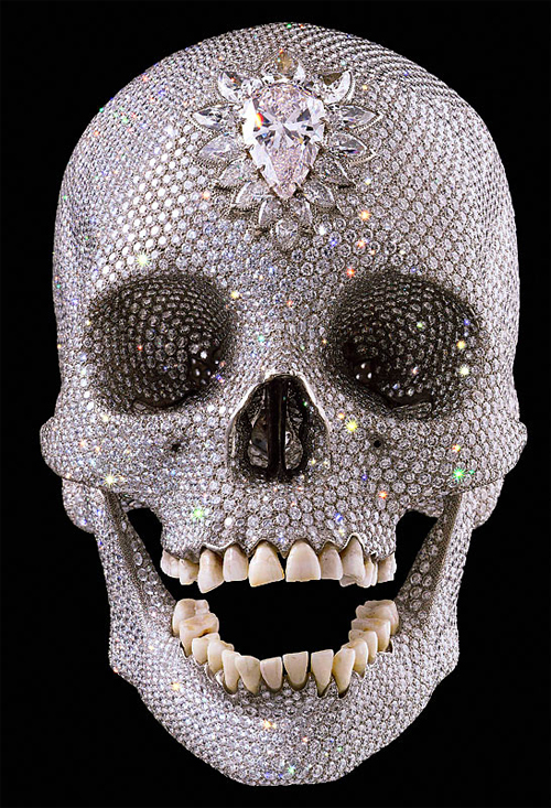 Damien Hirst, For the Love of God, 2007. Platinum, diamonds, human teeth.
