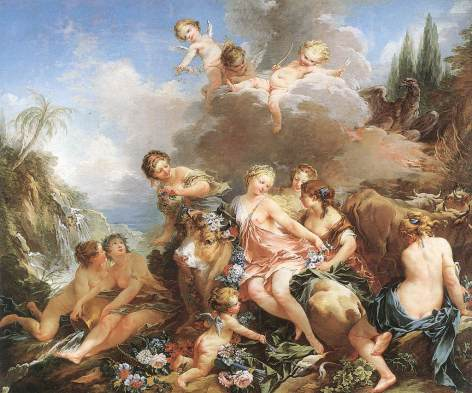 "François Boucher, ""The Rape of Europa,"" 1732-1734"